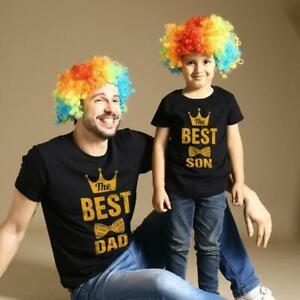 BEST DAD AND SON BLACK T SHIRT MATCHING GIFT FATHERS DAY GIFT SET