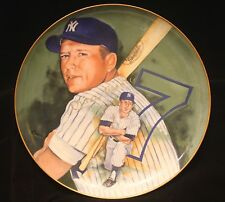 "MICKEY MANTLE 1983 MARIGOLD COLLECTOR GOLD AUTOGRAPH ""MICKEY"" SERIES PLATE #429"