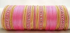 Indian Bollywood 48pcs light Pink Colored  Bridal Bangles Set Jewelry 2.6.