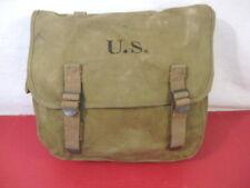 WWII US Army/USMC M1936 Khaki Canvas Musette Bag - Rubberized Canvas - 1942 #1