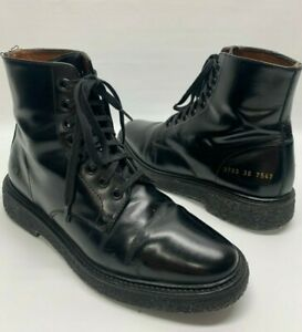 Woman by Common Projects Standard Black Combat Lace Up Boots EU 36 US 6