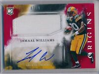 JAMAAL WILLIAMS - 2017 Origins RED 2 Color Patch AUTO /99 - Packers RC