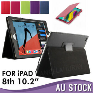 "New Apple iPad 8th Gen 10.2"" Cover Smart Leather Stand Flip Case iPad 10.2 2020"