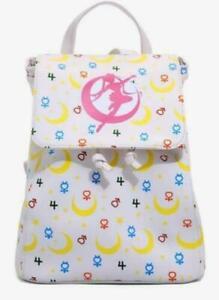 Sailor Moon Mini Backpack Symbols Pattern Drawstring Magnetic Closure Bag