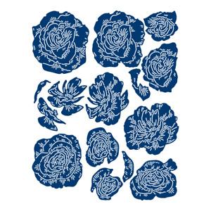 Tattered lace 3D Decoupage Large Watercolour Flowers (465993)