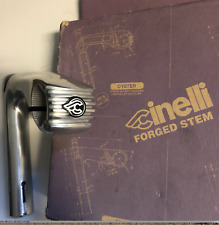 New-Old-Stock Cinelli 101 Silver Oyster Forged Stem w/ 26.4 mm clamp (115 mm)