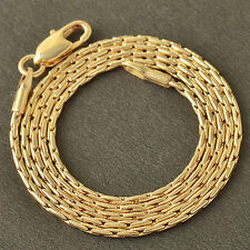 Yellow Gold Filled Snake Mens Fashion Womens Chain Necklace vintage