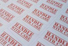 130x HANDLE WITH CARE Labels (Large Letters, Parcels, etc) 38mm x 21mm - MATTE