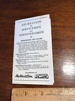 Vintage WWII Recreation for Servicemen & Servicewomen Pocket Size Worcester
