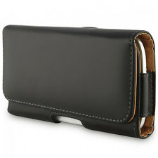 COVER CUSTODIA POCHETTE CLIP DA CINTURA FINTA PELLE HTC Windows Phone 8X CDMA