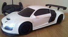 AUDI R8 télécommande radio voiture échelle 1,18 vitesse rapide-blanc