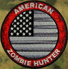 ZHT GEAR: AMERICAN FLAG ZOMBIE HUNTER PATCH SWAT ED  W/VELCRO ~ THE WALKING DEAD