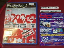 DISNEY SING IT HIGH SCHOOL MUSICAL 3 SENIOR YEAR PS2 PLAYSTATION 2 NUOVO SIGILL.