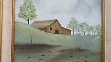 C.BAILEY OLD WOOD COUNTRY BARN OIL PAINTING 12x16 FRAMED BY FRAME TEX in Texas