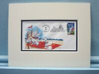 Saluting Bugs Bunny and the First Day Cover of his own stamp