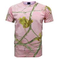 Unisex Mens Pink Jungle Camuflage Short Sleeve Forrest Print T-Shirt 3-4Yrs-2XL