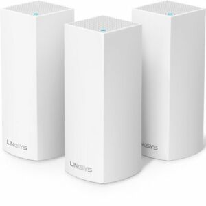 Linksys Velop Tri-band WholeHome WiFi Mesh System 3-Pack--Works with Amazon Alex