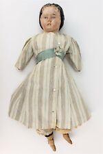 Antique German Carved Wood Doll ca1900