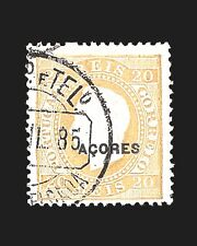VINTAGE:AZORES-PORTUGAL 1882 USD LH  SCOTT #48B $85 LOT #1882X63D