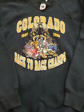 Vtg 90s Cu Buffs Colorado Buffalo sweater sweatshirt shirt jacket football 80s