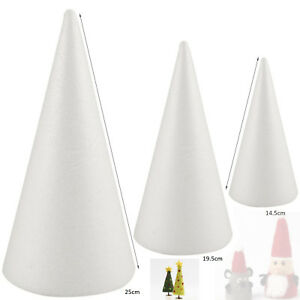 Solid Polystyrene Cone for Art Projects Wedding Party Decoration 14.5-25cm