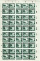 Stamp Germany Mi 891 Sc B275 Sheet 1944 WW2 3rd Reich Gilder Post Office MNH