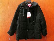 Isaac Mizrahi Ladies' Velvet Puffer Jacket Sz XL, L Blck