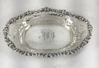 Sterling Decorated & Pierced Bowl-Mono'd