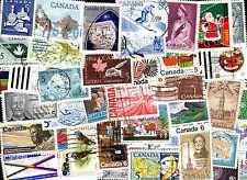 Canada commémoratifs 100 timbres différents oblitérés grands formats