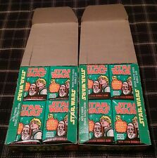 1977 TOPPS STAR WARS SERIES 4 UNOPENED *72 PACKS* WAX BOX LOT of 2 *CASE FRESH*