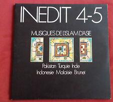 MUSIQUES DE L'ISLAM D'ASIE 2 LP  INEDIT 4-5  PAKISTAN TURQUIE INDE ETC