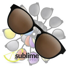 Polarized Dark Brown Replacement Lenses for Oakley Latch Bronze