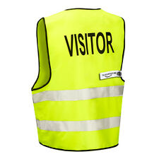 VISITOR High Viz Visibility Safety Vest (Zip Front) THE-SECURITY-STORE