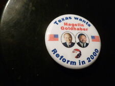 Texas Reform Party Pin Back Presidential Political Campaign 2000 Button Hagelin