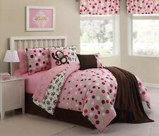 Pink Monkey Reversible Hypoallergenic Kids Complete Bed-in-a-Bag Comforter Set