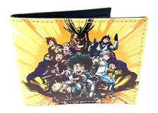 MY HERO ACADEMIA GROUP PHOTO SUBLIMATED GRAPHIC PRINT MENS BIFOLD WALLET RETRO