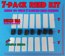 Duck Call Reed Kit 7-PACK with 7 Long Reeds, 7 Dimple Reeds, 7 Sanoprene Wedges