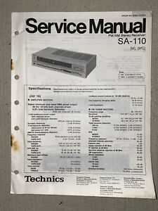 Technics SA-110 Service Manual: FM/AM Stereo Receiver with Wiring Diagrams