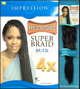 Impression Pre Stretched Super Braid Ultra Braid Hair Extensions All Colors