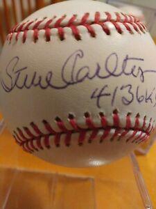 steve carlton autographed baseball inscribe with 4136k,s JSA sticker #GG52408