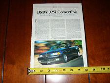 1993 BMW 325i CONVERTIBLE - ORIGINAL ARTICLE