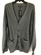 Cypress Links Golf Cardigan Sweater Size L Large Mens Grey V-Neck NWT