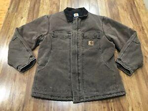 MENS LARGE - Vtg Carhartt Sandstone Arctic Quilted Coat Jacket