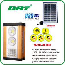 DAT Solar 10W Home System Kit Market Outdoor Light Phone USB Charging Battery