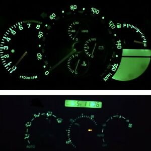 Green Cluster Led/ Climate Control Combo Bulb Kit for Lexus IS300 2001-2005