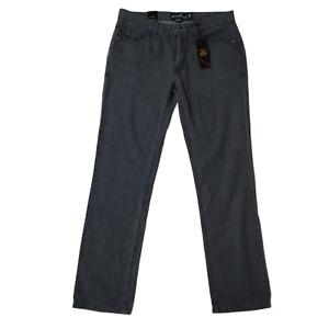 New Micros Men's Valkyrie Charcoal Gray Denim Jeans Size 34 x 34 Slim Straight