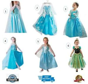 Girls Dress Costume Princess Queen Elsa Anna Cosplay Party 1-13Yrs Aussie Seller