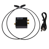 Digital Optical Coax Coaxial Toslink to Analog RCA L/R Converter Adapter US