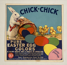 Vintage Chick-Chick Pure Easter Egg Colors Dye Kit