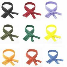 """lot of 35 Zippers of 22"""" Zippers Assorted colors invisible zippers Buy Online"""